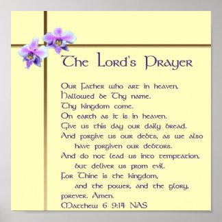 A Oração Poster do senhor