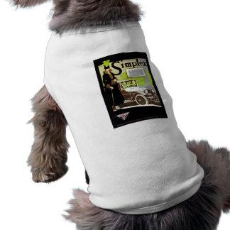 A palavra simples - propaganda do automóvel do camisa sem mangas para cachorro