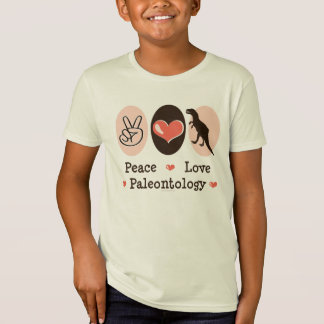 A paleontologia do amor da paz caçoa o Tshirt de