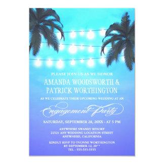 A palmeira ilumina convites da festa de noivado