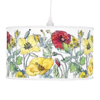 A papoila botânica do vintage floresce a lâmpada