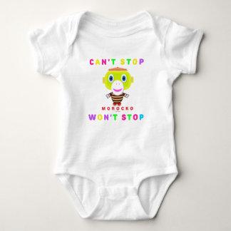 A parada do Cant    do Bodysuit do bebê não parará T-shirts