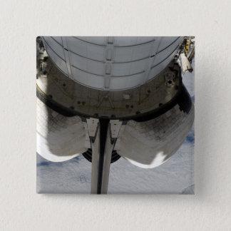 A parcela traseira do esforço 2 do vaivém espacial bóton quadrado 5.08cm