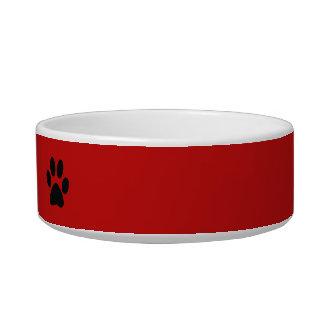 A pata imprime o nome de animais de estimação do ~ tijelas para água para gatos