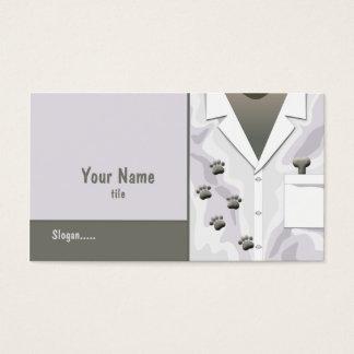 A pata segue o cartão de visita veterinário
