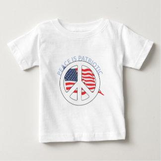 A paz é patriótica camisetas