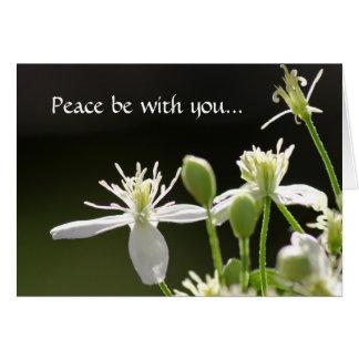 A paz seja com você cartão comemorativo