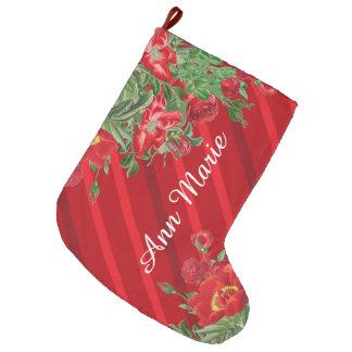 A peônia dos rosas de Natal floresce o estoque das Bota De Natal Grande
