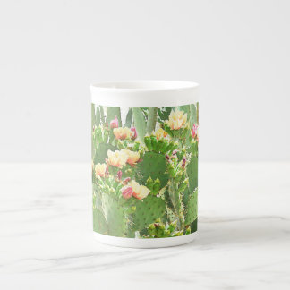 A pera espinhosa floresce café de China/copo de Xícara De Chá