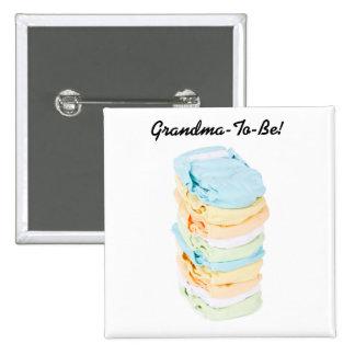 A pilha de fraldas Avó-À-Está botão Bóton Quadrado 5.08cm