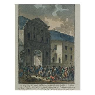 A pilhagem do convento do Santo-Lazare Cartão Postal