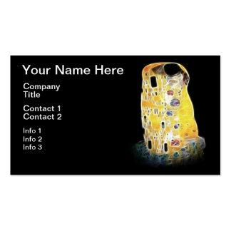 A pintura amarela de Gustavo Klimt Digital do Cartão De Visita