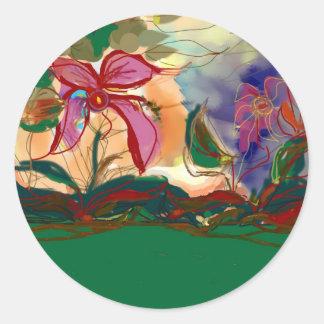 A pintura cor-de-rosa de Flower>Watercolour Adesivo