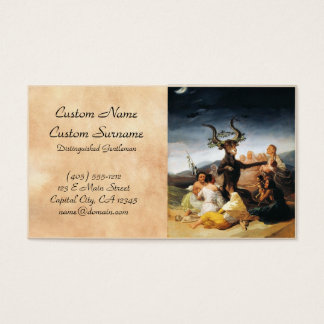A pintura da obra-prima de Francisco José de Goya Cartão De Visitas