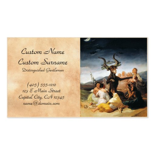 A pintura da obra-prima de Francisco José de Goya  Cartão De Visita