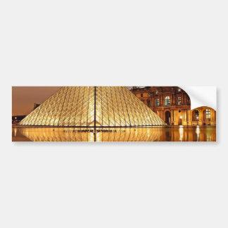 A pirâmide do Louvre no pátio do Louvre Adesivo Para Carro