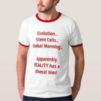 A polarização liberal da realidade t-shirt