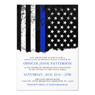 A polícia denomina a bandeira americana convite 12.7 x 17.78cm