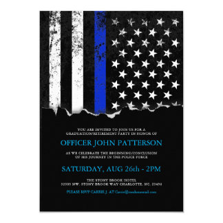 A polícia denomina o convite da bandeira americana
