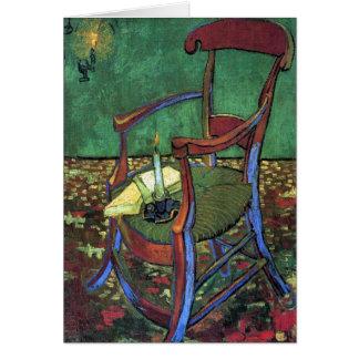 A poltrona de Paul Gauguin por Vincent van Gogh Cartão Comemorativo