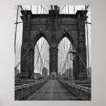 A ponte de Brooklyn na Nova Iorque Posteres
