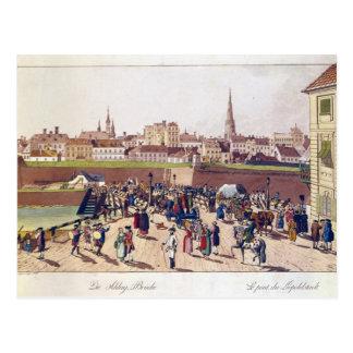 A ponte em Leopoldstadt, Viena, 1780 Cartão Postal