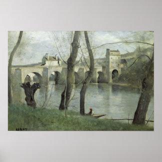 A ponte em Mantes Posteres