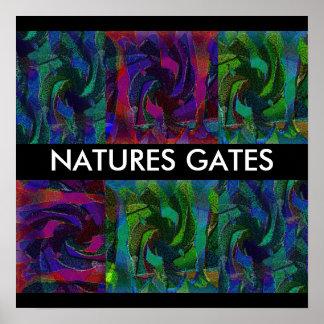 A porta da natureza pôster