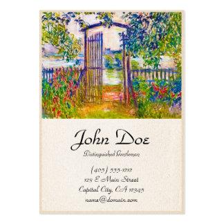 A porta de jardim em Vetheuil Claude Monet Cartão De Visita Grande