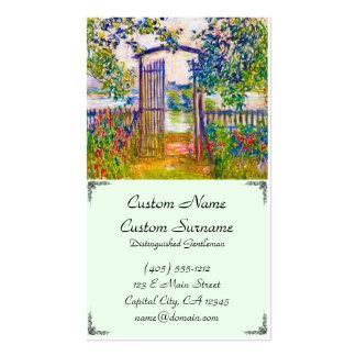 A porta de jardim em Vetheuil Claude Monet Modelos Cartões De Visita