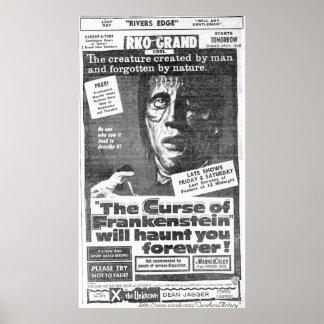"""""""A praga de 1957) anúncios de Frankenstein"""" (- pos Poster"""