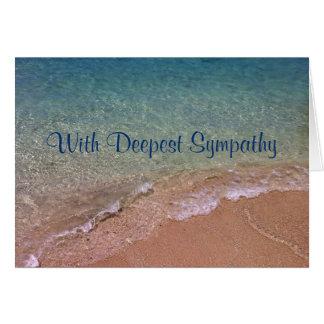 A praia acena o cartão de simpatia