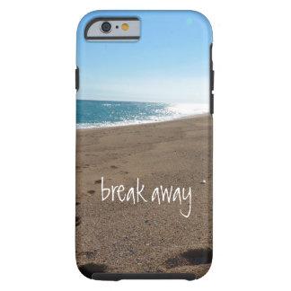 A praia com quebra afastado citações capa tough para iPhone 6