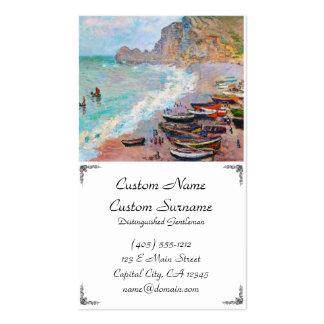 A praia em Etretat Claude Monet Cartão De Visita