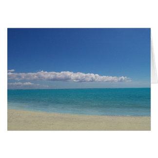 A praia perfeita cartão