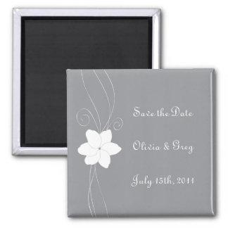 A prata e o branco salvar o ímã do casamento da da ímã quadrado