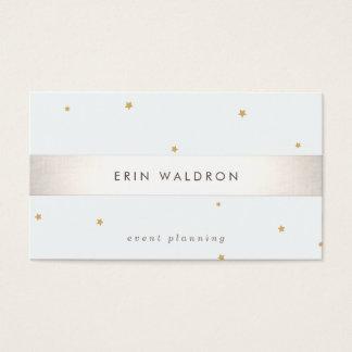 A prata elegante listrou a luz da estrela do ouro cartão de visita