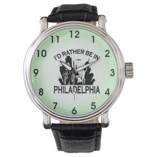 A preferencialmente esteja em Philadelphfia Relógio De Pulso