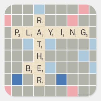 A preferencialmente esteja jogando adesivo quadrado