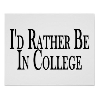 A preferencialmente esteja na faculdade pôsteres
