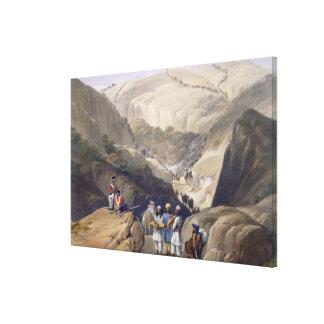 A primeira descida através da passagem de Koojah,  Impressão Em Tela Canvas
