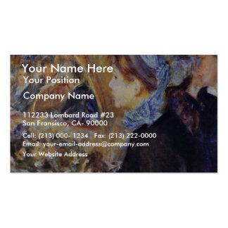 A primeira saída por Pierre-Auguste Renoir Modelos Cartões De Visitas