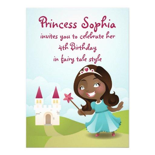 A princesa festa de aniversário convida convite