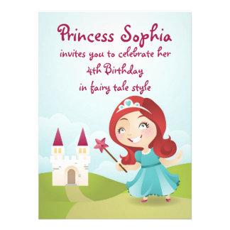 A princesa festa de aniversário convida convite personalizados