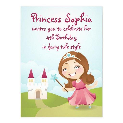 A princesa festa de aniversário convida convites