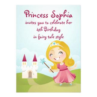 A princesa festa de aniversário convida convites personalizado
