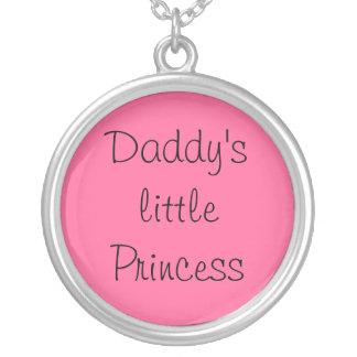 A princesa pequena do pai colar banhado a prata