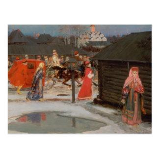 A procissão do casamento cartão postal
