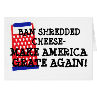 A proibição shredded o trunfo da grelha de cartão comemorativo