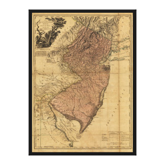 A província do mapa de New-jersey (1777)